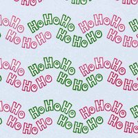 Printed Medium Cellophane Bags - HO HO HO